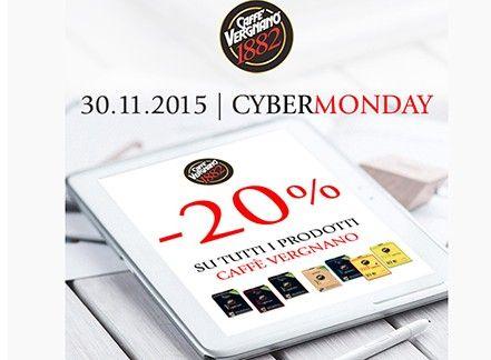 Arriva il Cyber Monday! Acquista Caffè Vergnano con sconti del 20%