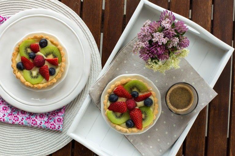 Crostata di crema e frutta fresca
