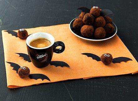 Dolcetti di Halloween: tartufi al caffè e rum (con ali di pipistrello)