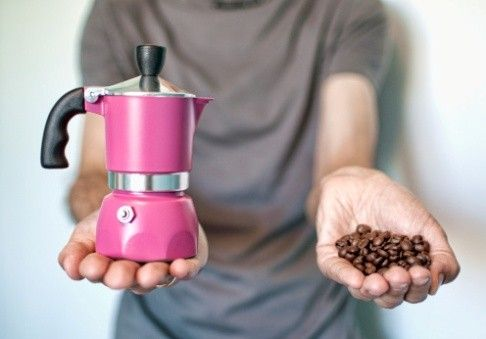 Il mio caffè è fatto con la moka