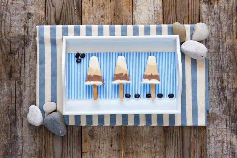 Mini gelati al cacao e caffè