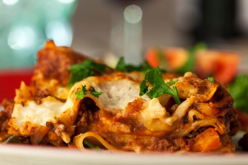 Radicchio-Lasagne mit Kaffee: ein glutenfreies vegetarisches Gericht