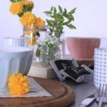 Riciclo creativo per una tavola primaverile