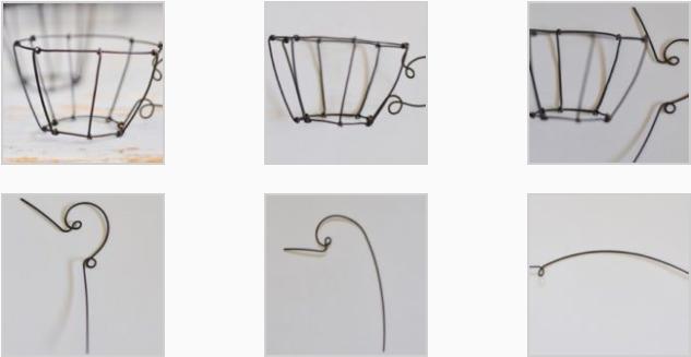 Tazzine con il fil di ferro