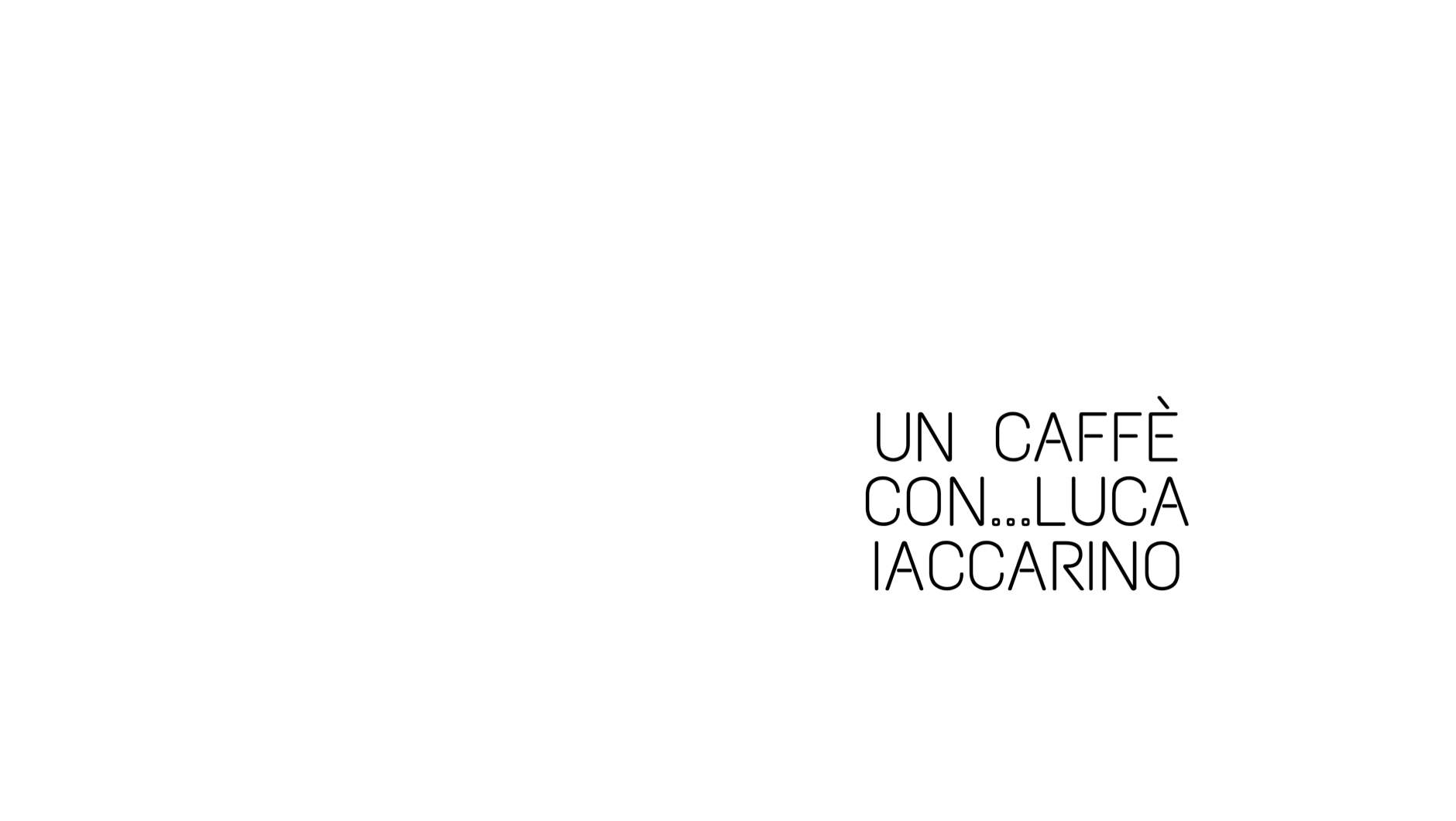 Un caffè con: Carolina Vergnano dialoga con Luca Iaccarino