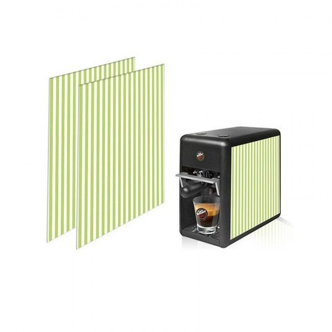 Macchina Caffè Tre Mini Fianchetti Rigato Verde Fluo