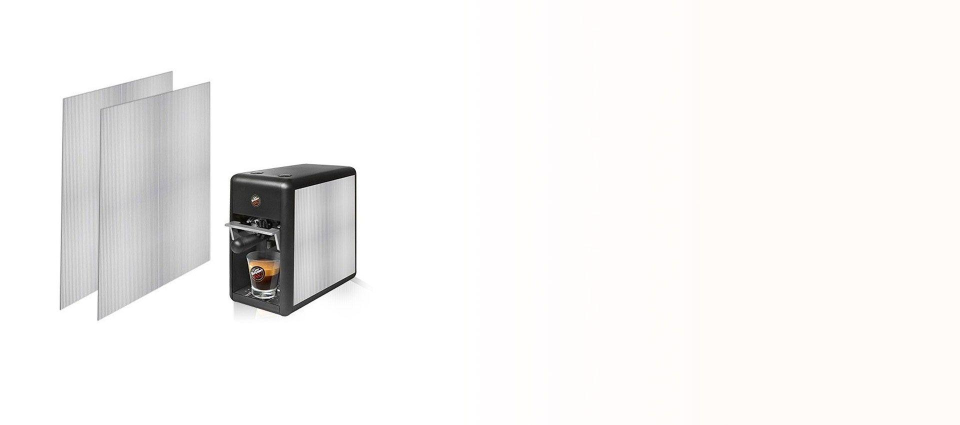 Macchina Caffè Tre Mini Fianchetti Alluminio Millerighe