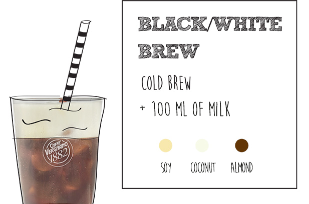 black white cold brew