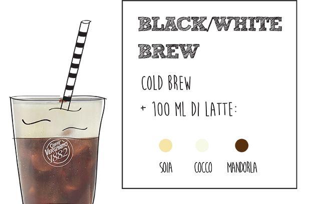 ricetta cold brew black white