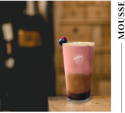 fruit mousse cold brew
